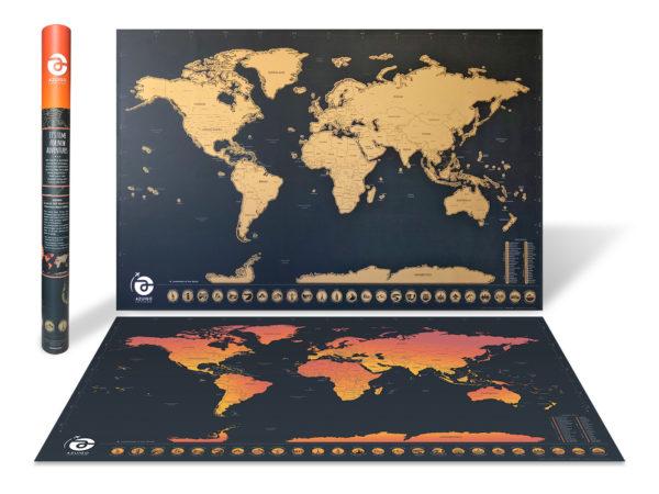 AZUIGO Scratch Off World Map