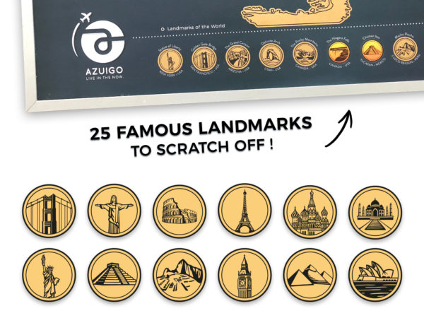 25 famous Landmarks to scratch off !